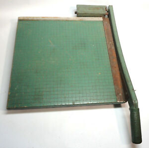 Vintage 16 Premier Wood Photo Materials Company Paper Cutter Chopper