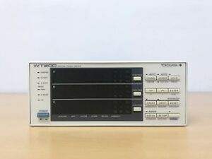 Yokogawa Wt200 Digital Power Meter option d ex2 da4