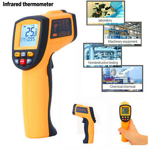 Digital Infrared Thermometer Non contact Ir Laser Temperature Gun Lcd Display