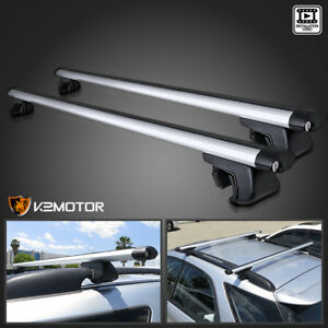 48 Aluminum Car Top Cross Bar Crossbar Roof Rack Pair For Cargo Luggage