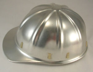 Apex Safety Products Vintage Aluminum Hard Hat W liner Silver Colored No Dents