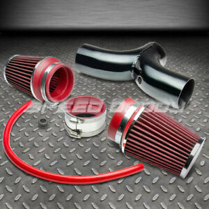 For 97 04 Corvette jeep Wj Kj dakota Dual Intake Induction Pipe red Air Filter