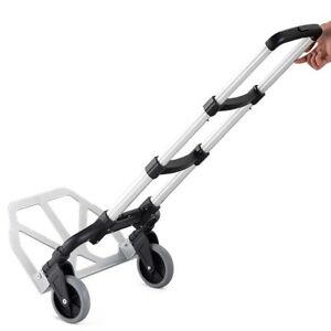 Folding Metal Hand Truck Push Cart Trolley With 2 Wheels For Tansport Storage Us