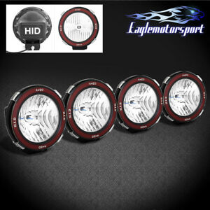 4xunviersal Mount On 7 6000k Xenon Hid 4x4 Off Road Light Fog Driving Lamp