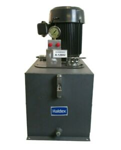 Haldex Hydraulic Reservoir Tank Pump With Dayton Industrial Motor Used Working
