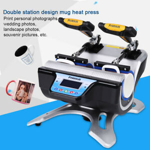 Double Station Mug Heat Press Machine St 210 Sublimation For 10oz 11oz 15oz 17oz