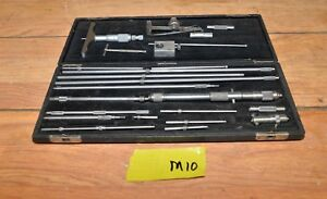 Vintage Starrett Micrometer Depth Gauge Set Large Collectible Inspection Tools