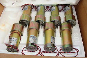 Lot Of 10 Pittman Gm9236e513 r1 Servo Gear Motor 24vdc 127 7 1 Ratio New