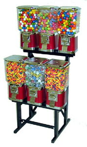 6 Vending Machine Amusement Rack Vends Gum Balls Bulk Candy And More