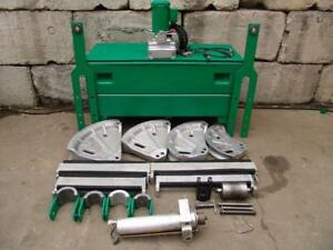 Greenlee 881 Hydraulic Pipe Bender 960 Pump 2 1 2 To 4 Emt Imc Rigid Works Great