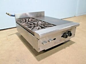 vulcan Hart Hd Commercial Natural Gas Counter top 2 Burners Stove W french Top