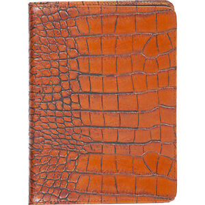 Scully Croco Embossed Leather Desk Journal Blank Page Business Accessorie New