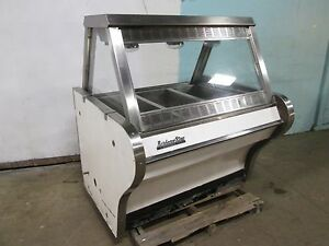 bbq King Commercial Heated Lighted Full service Hot Food Display Merchandiser