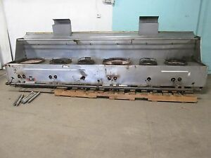 restaurant Equip Hd Commercial 154 w Nat Gas 2 Jet 4 Ring Burners Wok Stove