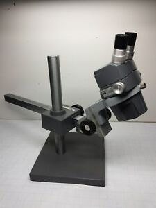American Optical Stereo Zoom Microscope Ao 569 W Heavy Boom Swivel Stand