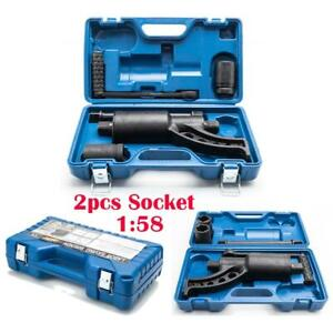 Torque Multiplier Set Wrench Lug Nut Labor Saving Lugnuts Remover W 2 X Sockets