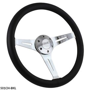 1970 1973 Gmc Pick Up Black Leather amp Chrome 15 Steering Wheel Kit Gm
