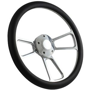65 66 Ford Pick up excl Econoline Steering Wheel Kit 14 Polished Muscle S