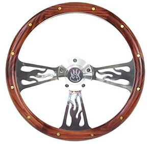 1969 1987 El Camino Steering Wheel Mahogany Billet Flamed Design With Adapt
