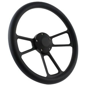 57 All Mercury Cars Steering Wheel Kit 14 Black Muscle Steering Wheel Black