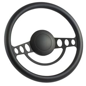 55 57 Ford Thunderbird 14 Inch Black 9 Hole Classic Steering Wheel Carbon F