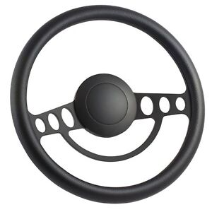 70 77 Ford Pick up Full Size 14 Inch Black 9 Hole Classic Steering Wheel