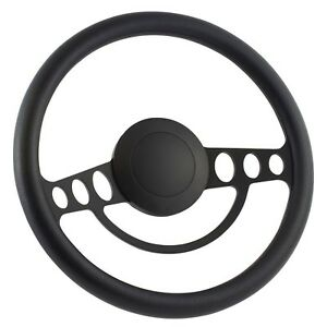 91 94 Ford Explorer 14 Inch Black 9 Hole Classic Steering Wheel Black Half