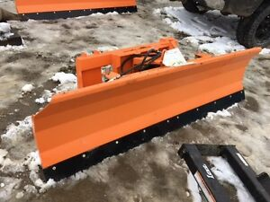 72 Skid Steer Snow Plow Or Dozer Blade Power Angle univ Fit For Bobcat case jd