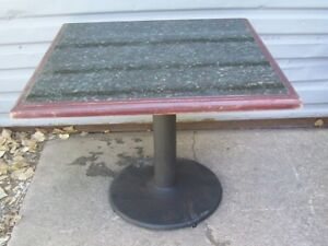 Restaurant Equipment 4 Green Marble Tables With Bases 42 Square