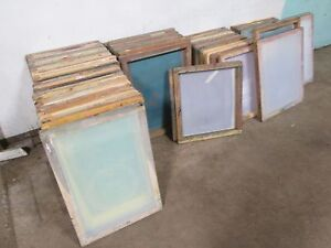 Lot Of 58 Heavy Duty Commercial Assorted Silk Screen Printing Frame W mesh
