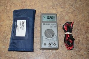 Hp Hewlett Packard E2373a Multimeter W Leads Pre owned Free Shipping