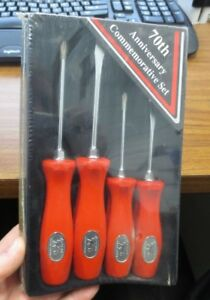 Snap On 70th Anniversary Commemorative Screwdriver Set New Nos Sealed