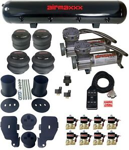 65 70 Impala Air Suspension Kit W 1 2 Valves Black 7 Switch Pewter Compressors