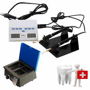 Dental Lab Electric Wax Carving Knife Double Pen W 6 Tips Analog Wax Heater