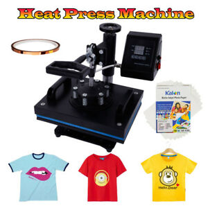 12 x10 Digital Heat Press Machine For T shirts Fixed Glue A4 Transfer Paper