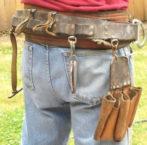 Vintage Buckingham 1062 Utility Pole Lineman Tree Climbing Safety Tool Belt Xl L