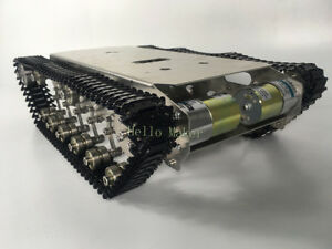 New Finished Metal Robot Tank Chassis Independent Suspension System For Arduino