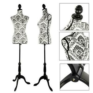 Dress Female Mannequin Glass Fiber Torso Clothing Display Form W Tripod Stand