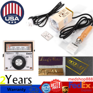 Protable Manual Hot Foil Stamping Embossing Machine Pvc Leather Printer Logo Us