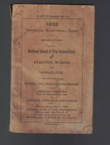 National Electrical Code Nec 1935 Regulations National Board Fire Underwriters
