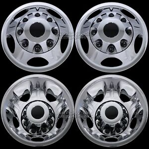 4 Chrome 11 20 Silverado Sierra 3500 17 Dually Wheel Simulators Dual Rim Liners