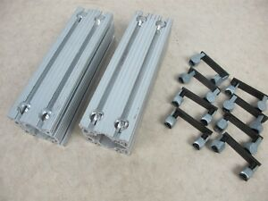 Lot Of 2 80 20 Inc T slot Aluminum Extrusion 3030 3x3x10 W 8x Anchor 3099