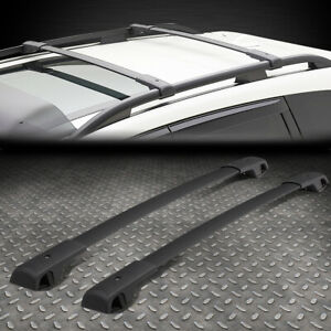 For 14 18 Subaru Forester Pair Black Oe Aluminum Bolt on Roof Rail Cross Bar