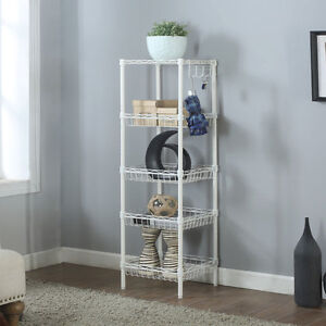Storage Rack 5 tier Organizer Kitchen Corner Shelving Steel Wire Shelves New
