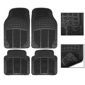 Car Floor Mats For All Weather Rubber 2 Front Pieces 2 Rear Pieces Heavy Duty