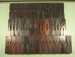 Wm H Page Letterpress Blocks French Clarendon Printing Wood Type 4 7 8 Inch