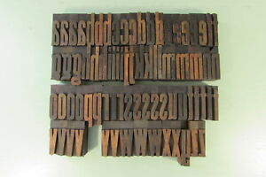 Wm H Page Gothic Special Letterpress Blocks Wood Type 2 Inch Lowercase