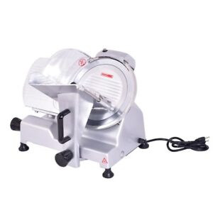 10 blade Semi auto Meat Cheese Slicer Deli Food Commercial Machine Catering Tool