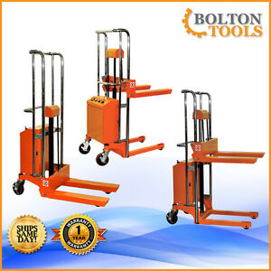 Bolton Tools Pallet Stacker Jack Lift Electric Powered Operated 880 Lb Etf40 13