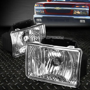 For 04 12 Chevy Colorado gmc Canyon Clear Lens Oe Bumper Driving Fog Lights Lamp